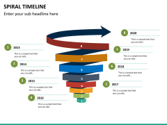 Spiral Timeline PPT slide 22