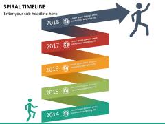 Spiral Timeline PPT slide 14