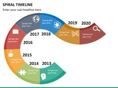 Spiral Timeline PPT slide 16