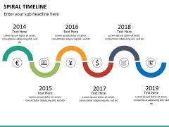 Spiral Timeline PPT slide 17