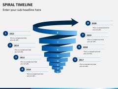 Spiral Timeline PPT slide 10