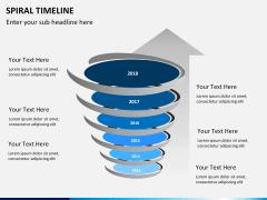 Spiral Timeline PPT slide 11