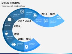 Spiral Timeline PPT slide 4