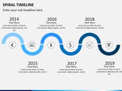 Spiral Timeline PPT slide 5