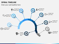 Spiral Timeline PPT slide 9