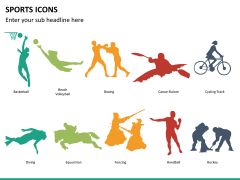 Sports icons PPT slide 11