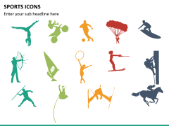Sports icons PPT slide 14