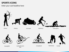 Sports icons PPT slide 1