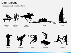 Sports icons PPT slide 2