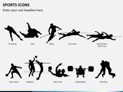 Sports icons PPT slide 4