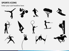 Sports icons PPT slide 6
