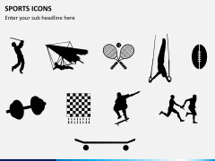 Sports icons PPT slide 8
