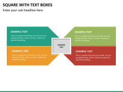 Square with text boxes PPT slide 7