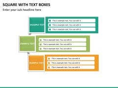 Square with text boxes PPT slide 8