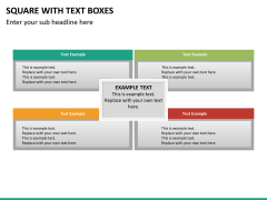 Square with text boxes PPT slide 9