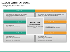 Square with text boxes PPT slide 10