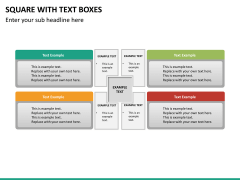Square with text boxes PPT slide 11