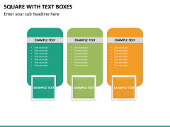 Square with text boxes PPT slide 12
