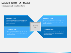 Square with text boxes PPT slide 1