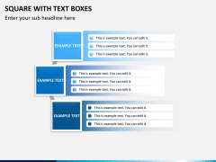Square with text boxes PPT slide 2