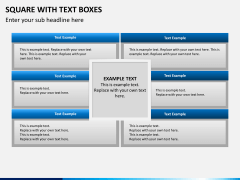 Square with text boxes PPT slide 4