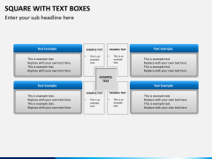 Square with text boxes PPT slide 5