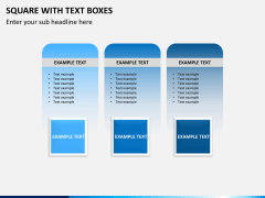 Square with text boxes PPT slide 6