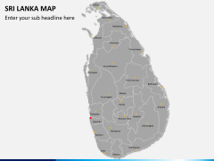 Sri lanka map PPT slide 1