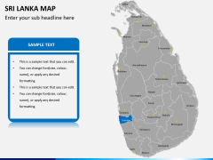 Sri lanka map PPT slide 10