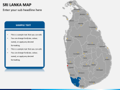 Sri lanka map PPT slide 11