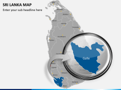 Sri lanka map PPT slide 13