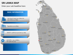 Sri lanka map PPT slide 16