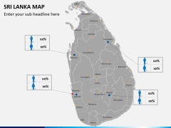 Sri lanka map PPT slide 17