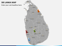 Sri lanka map PPT slide 2