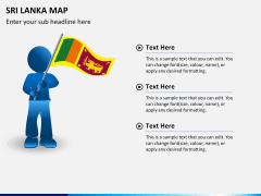 Sri lanka map PPT slide 22