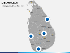 Sri lanka map PPT slide 3