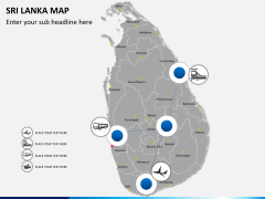 Sri lanka map PPT slide 4
