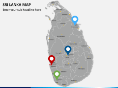 Sri lanka map PPT slide 5