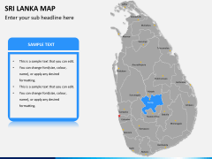 Sri lanka map PPT slide 9