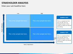 Stakeholder analysis PPT slide 1