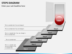 Steps diagram PPT slide 4