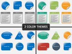 Sticker shapes PPT cover slide