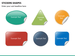 Sticker shapes PPT slide 9