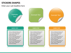 Sticker shapes PPT slide 10