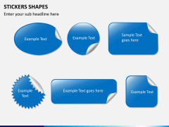 Sticker shapes PPT slide 1