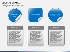 Sticker shapes PPT slide 3