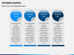 Sticker shapes PPT slide 4