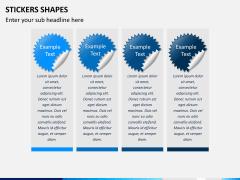 Sticker shapes PPT slide 5