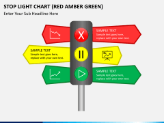 Stop light chart PPT slide 1