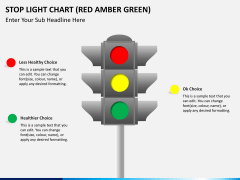 Stop light chart PPT slide 2